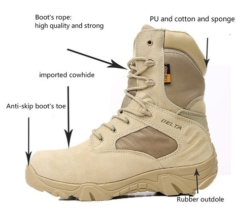 d053d2d1b4 JPDELT1001 Delta Brand Military Tactical Boots Desert Combat Outdoor Army  Hiking shoes Travel Botas Shoes Leather Autumn Male Ankle Boots