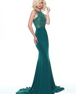 9329058d JPSG126 Best Spandex Jewel Neckline Sheath / Column Evening Dresses With  Beadings