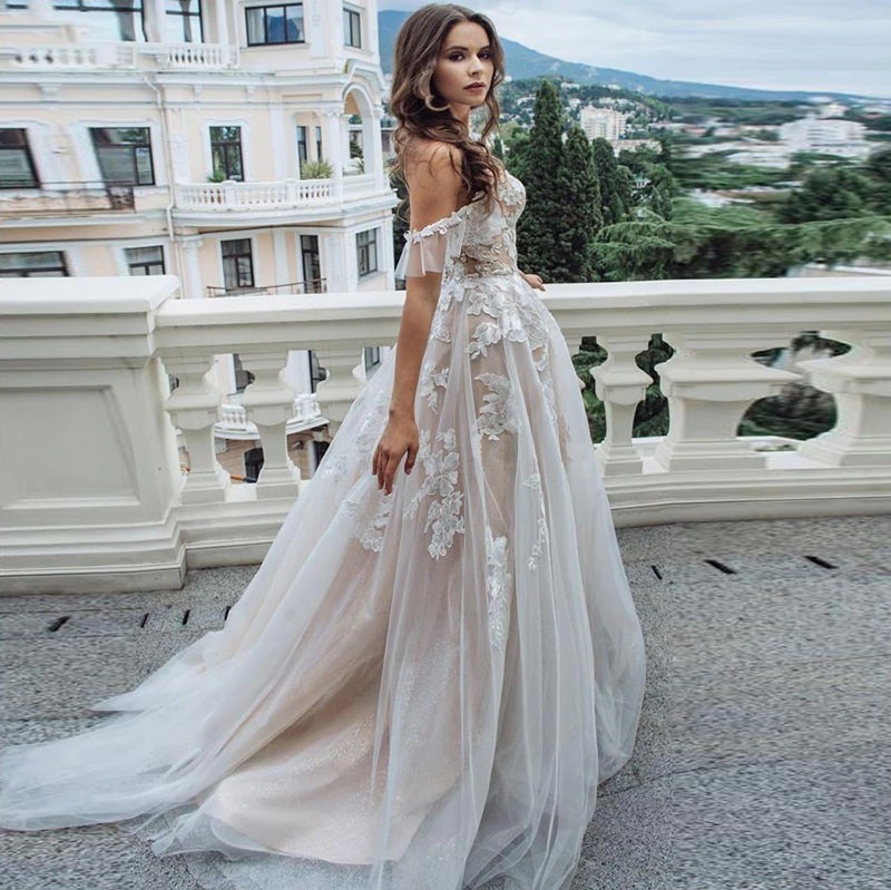 Jpae1276 Wedding Dress Beach Sweetheart Off The Shoulder Princess Wedding Gowns Appliques Lace Tulle Romantic Bridal Dress Jp S Boutique,Average Cost Of Wedding Dress Alterations 2020